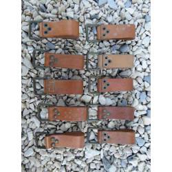 Lot 10 Passants cuir ceinture tcheque