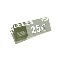 Chèque 25 ¤