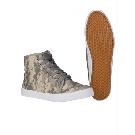 Basket type sneaker toile camouflage digital acu