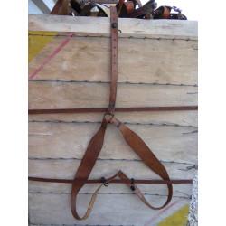 Bretelles cuir armee francaise