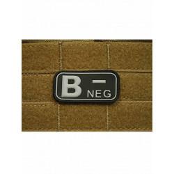 Patch Groupe Sanguin B- Noir PVC 3D