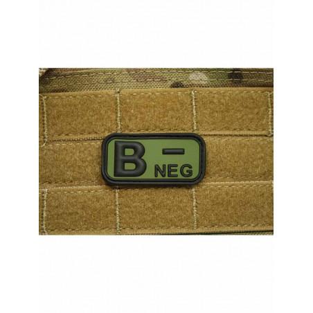 Patch Groupe Sanguin B- Vert PVC 3D