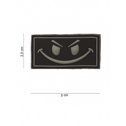 Ecusson Evil Smiley PVC - Noir