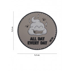 Ecusson All Day Every Day PVC - Gris