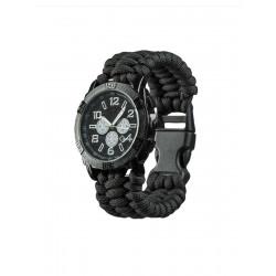Montre bracelet paracorde noir