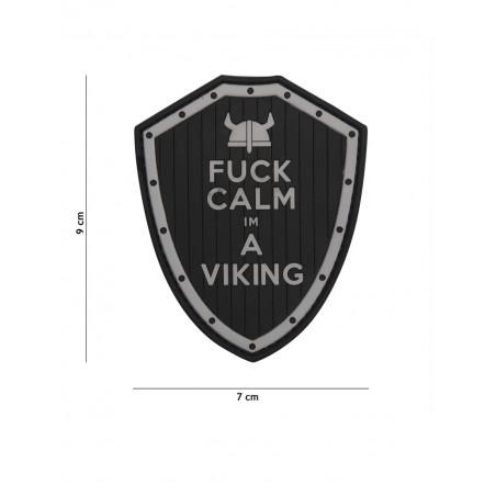 Ecusson F*ck Calm I'M a Vicking PVC - Noir