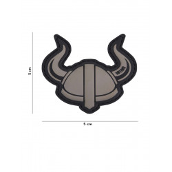 Ecusson Helmet Vicking PVC - Gris