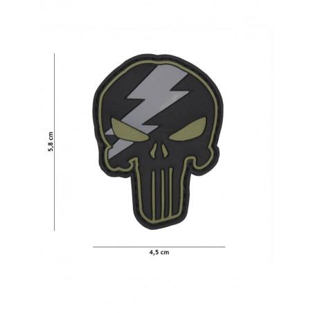 Ecusson Punisher Thunder PVC - Vert