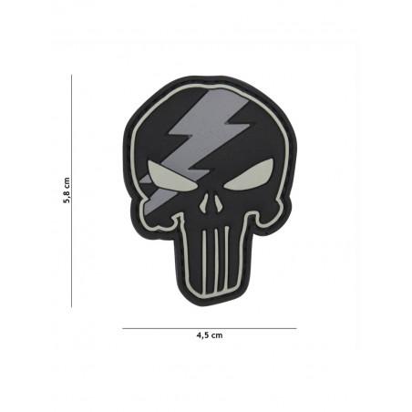 Ecusson Punisher Thunder PVC - Gris