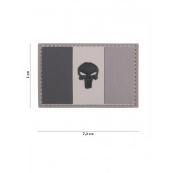 Ecusson Punisher France PVC - Gris
