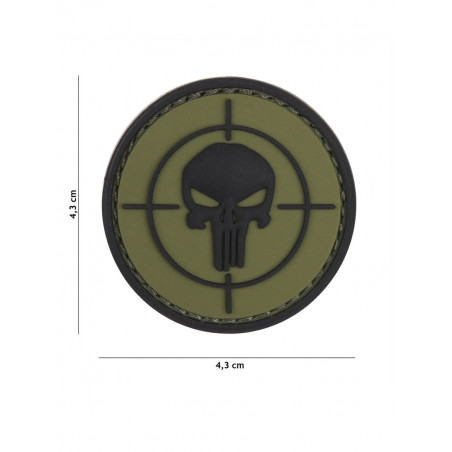 Ecusson Punisher Sight PVC - Vert