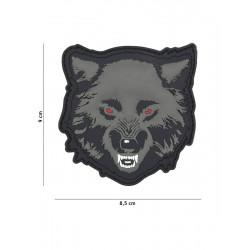 Ecusson Wolf PVC - Gris