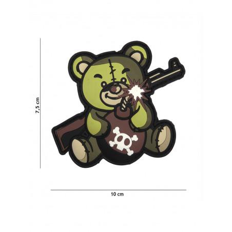Ecusson Teddy Terror PVC - Vert