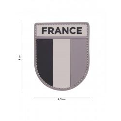 Ecusson France PVC - Gris
