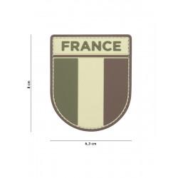 Ecusson France PVC - Marron