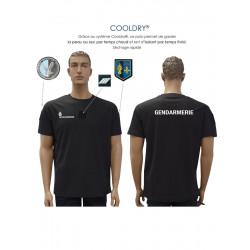 T-shirt Gendarmerie noir cooldry