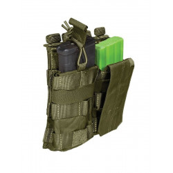 Porte chargeur HK416 / Famas double bungee 5.11 - Vert OD