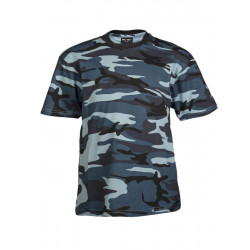 T-shirt enfant camouflage urban blue