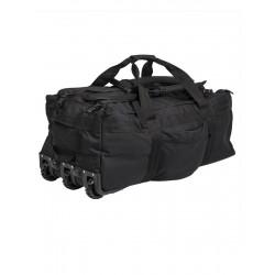 Sac transport voyage triple roulettes - Noir