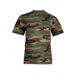 T-shirt Militaire enfant camo - woodland