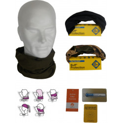 Protection tour de cou Buff Coolmax Noir