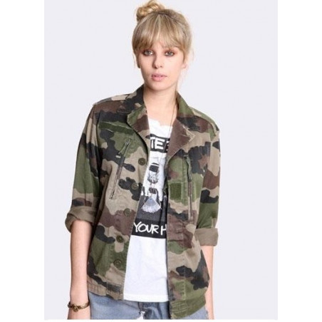hot sales the best nice cheap Veste militaire camouflage mode femme