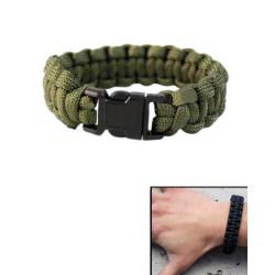 Bracelet paracorde largeur 15mm vert