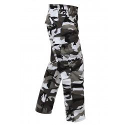 Pantalon Treillis BDU camouflage urban blanc et noir