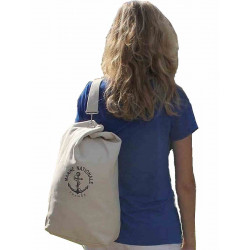 Sac Marin Toile coton blanc Marine Nationale PM